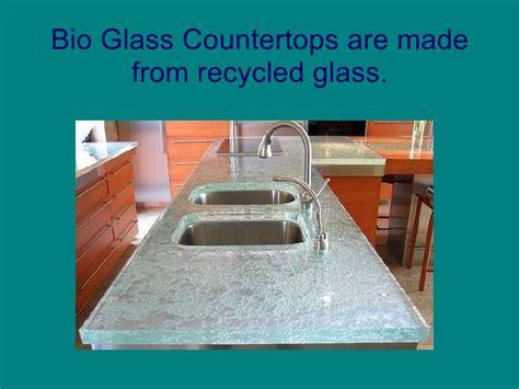 bio glass countertops recycled glass