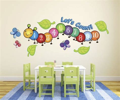centipede number count butterflies wall decals from 249 | abb545a72bfbe215641e022b4f8afa8d