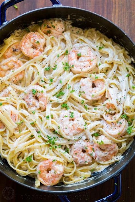 shrimp pasta recipes creamy shrimp pasta recipe video natashaskitchen com
