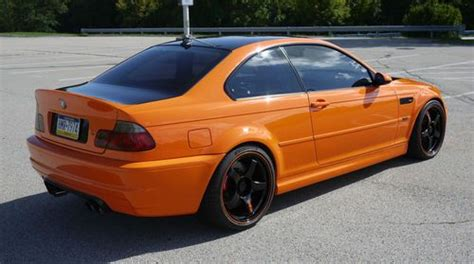 find   bmw   coupe custom fire orange paint