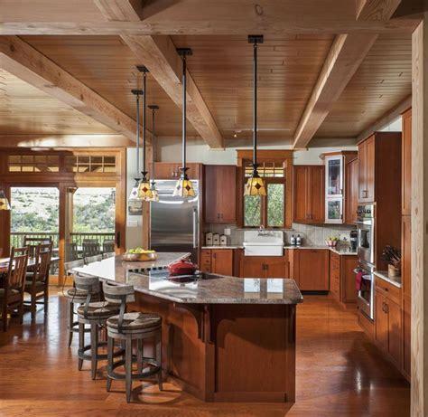 #PossumKingdom Timber Frame Kitchen with granite counter