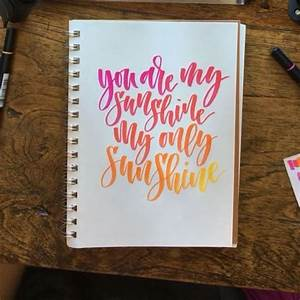 ombre lettering using markers lettering pinterest With ombre lettering marker buy