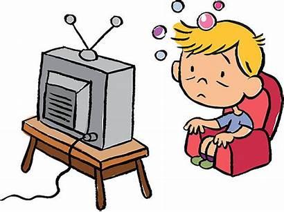 Tv Bored Clip Illustrations Television Child Vector