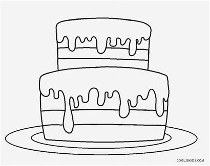 Cake Coloring Birthday Candles Pages Printable Cool2bkids