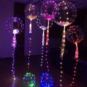 Deko 3 Geburtstag : 5x led luftballons helium transparent leuchtende party ~ Whattoseeinmadrid.com Haus und Dekorationen