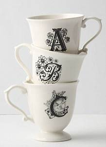 Interiors all decked out daily mail online for Monogram letters for cups
