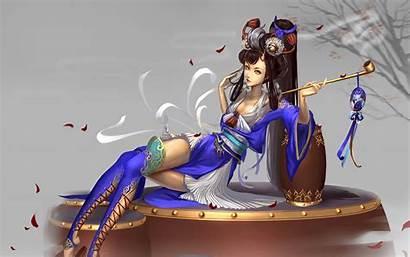 Fantasy Japanese Oriental Chinese Digital Wallpapers Woman