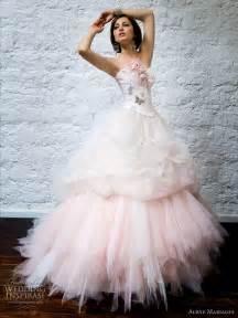 pink wedding dresses aurye mariages 2010 bridal gown collection wedding inspirasi