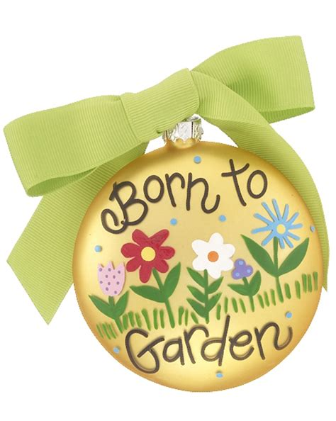 born to garden christmas ornament activities and hobbies