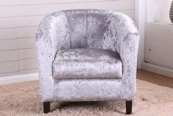 Tub Chairs Toronto by Toronto Crushed Velvet Silver Tub Chair