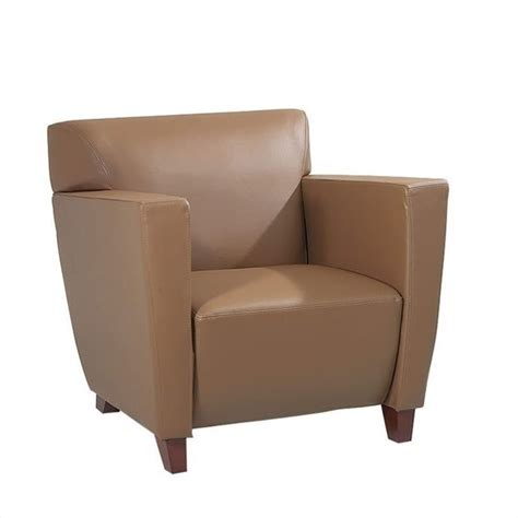 furniture taupe leather club chair sl8871