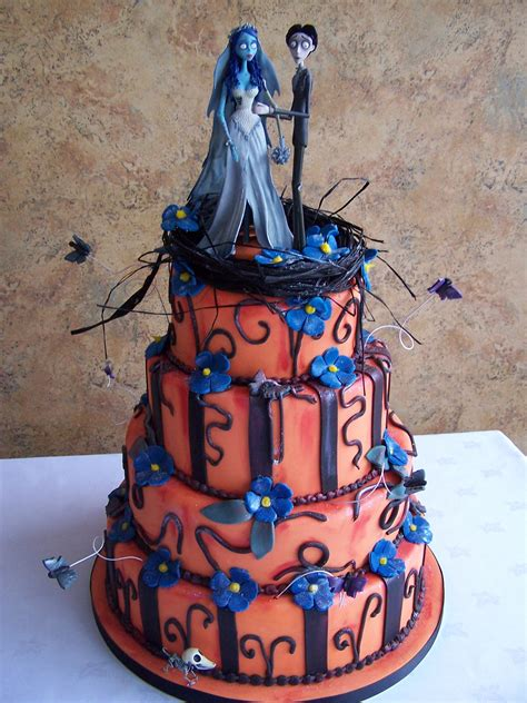 pin corpse bride wedding cake toppers