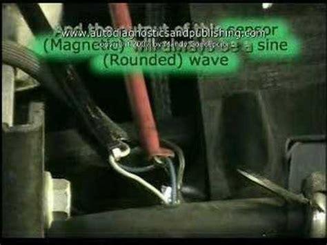 test crankshaft  camshaft sensors  youtube