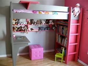 Gagner de place grace a un lit mezzanine for Stickers chambre enfant avec mal de dos et matelas