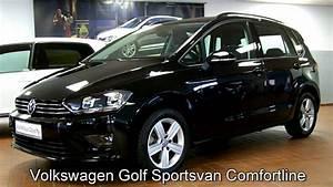 Volkswagen Golf Sportsvan Confortline : volkswagen golf sportsvan 1 6 l tdi comfortline fw523370 deep black perleffekt youtube ~ Medecine-chirurgie-esthetiques.com Avis de Voitures