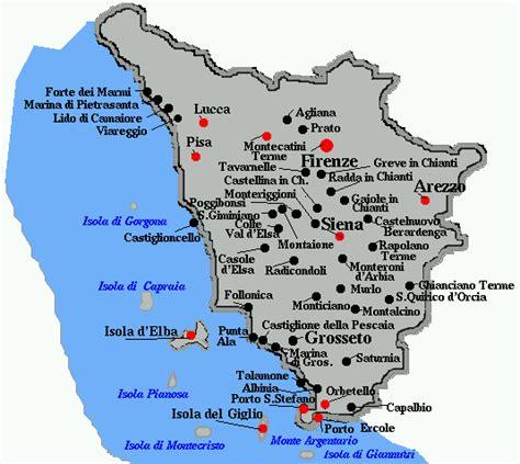 Toskana Küste Karte
