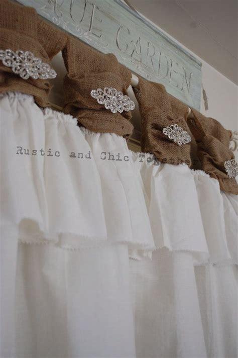 1000 ideas about burlap kitchen curtains on