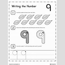 Learn To Count And Write Number 9 Myteachingstationcom