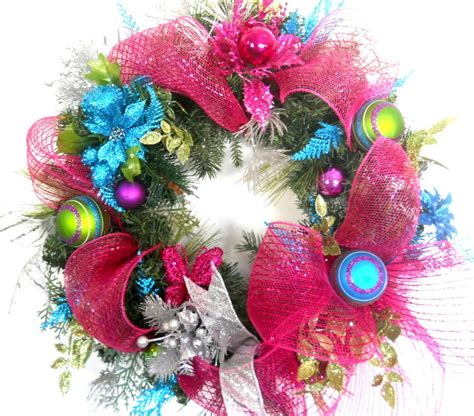 contemporary christmas wreaths pink christmas wreath modern christmas wreath pink wreath