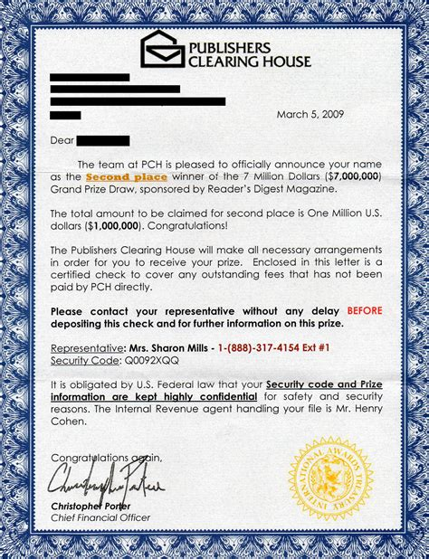 Disposition: Publishers Clearing House Pictures