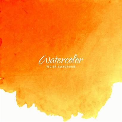Orange Watercolor Background Vector Modern Colorful Abstract