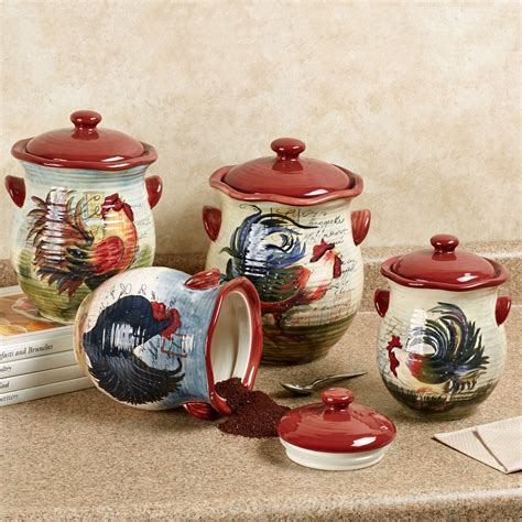 rooster kitchen canister sets le rooster kitchen canister set