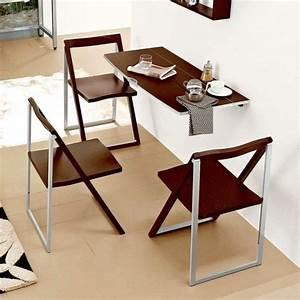 Table Cuisine étroite : la table murale rabattable est un meuble moderne qui organise vos activit s la maison ~ Teatrodelosmanantiales.com Idées de Décoration