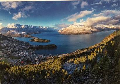 Queenstown Zealand Postcard Geography Cat Project