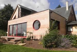 agrandissement maison avec toit plat en ossature bois With agrandissement maison toit plat