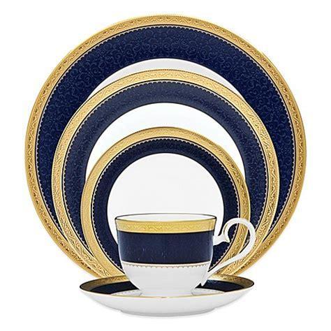 Noritake® Odessa Cobalt Dinnerware Collection in Gold