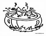 Soup Chicken Coloring Pages Colormegood sketch template