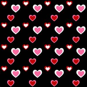 Pink Red and Black Heart Background - Pink Red and Black ...