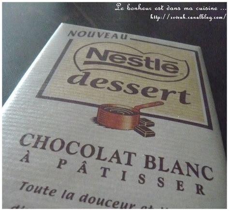 recette nestle dessert chocolat blanc recette mousse au chocolat blanc nestl 233