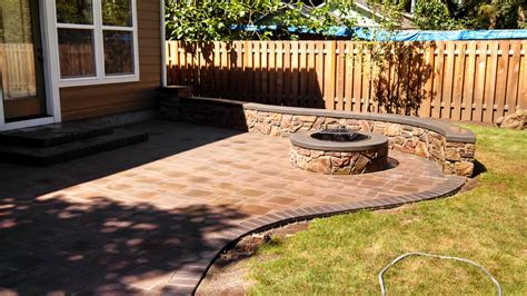 cost of paver patio with pit home outdoor decoration