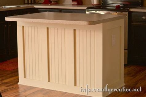 Board & Batten Beadboard Kitchen Island  Infarrantly Creative