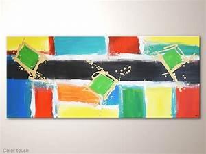 Moderne Kunst Leinwand : moderne kunst auf leinwand color touch grosses buntes bild acrylbilder modern moderne ~ Sanjose-hotels-ca.com Haus und Dekorationen