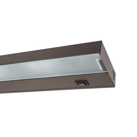 nicor 30 in xenon bronze cabinet light fixture