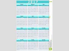 De Russische Taal Van Het Kalender 2017 Jaar Kalender 2017