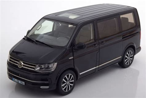 vw t6 multivan highline nzg vw multivan t6 highline 2016 black metallic 954 50 model car 1 18 genuine ebay