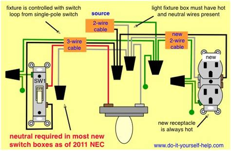 Wiring Diagram For Adding Outlet From Existing Light