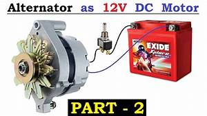 12v 120 Amps Car Alternator Converted To Dc Motor With