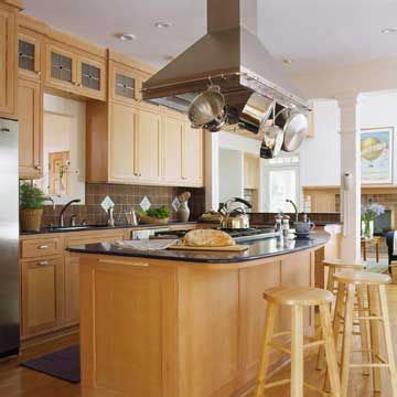 range with pot rack island range ideas my better homes and gardens
