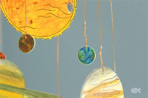 diy glow   dark solar system mobile shrink art template