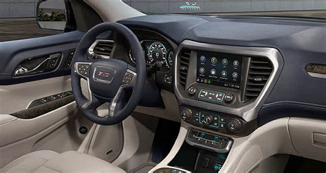 gmc acadia 2020 interior freshened 2020 gmc acadia adds a turbo engine consumer