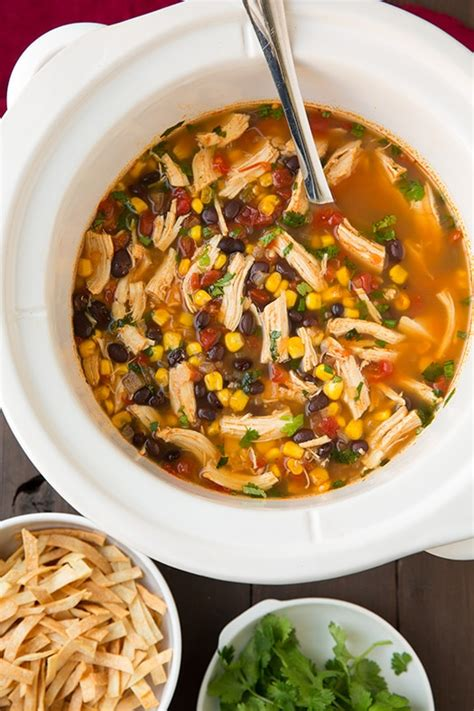 cooking chicken in chicken broth slow cooker chicken tortilla soup cooking classy