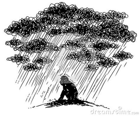 sketchy illustration depression royalty  stock images