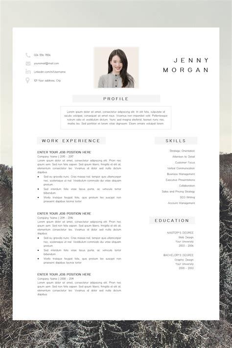 simple cv template word resume  photo template