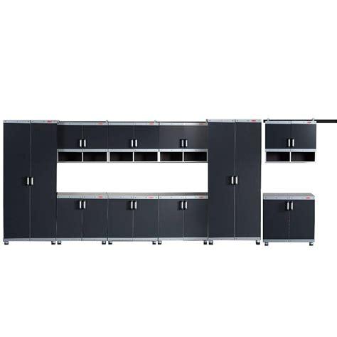 home depot garage organization rubbermaid rubbermaid fasttrack garage laminate 10 cabinet set