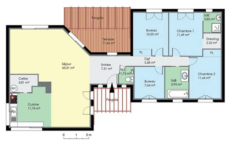 plan de maison plain pied 4 chambres gratuit plan de maison rectangle gratuit plans maisons