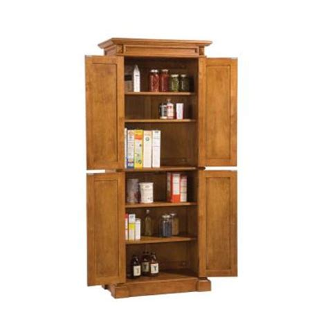 Home Depot Unfinished Cabinets Pantry by Home Styles Distressed Oak Pantry 5004 69 The Home Depot